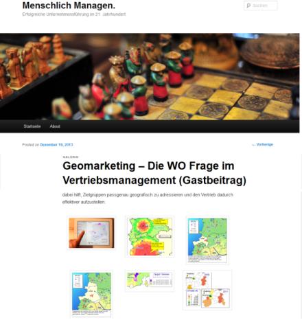 Geomarketing / geobiz.de Beitrag